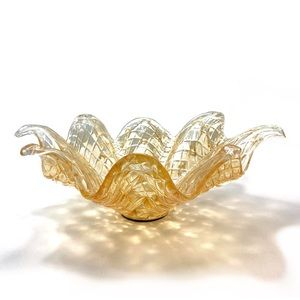 Abstract Authentic Murano Glass Bowl